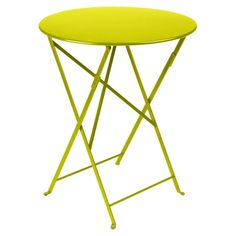 DetailsThe round folding Bistro Table is made of lacquered steel and has no parasol hole. The table was created in the century in Europe and has found its way to the US. Round Folding Table, Metal Folding Chairs, Folding Furniture, Outdoor Furniture, Furniture Design, Indoor Outdoor, Outdoor Tables, Metal Dining Table, Dining Set