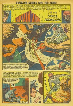 """(More of Captain Atom) Space Adventures #37  Charlton Comics  """"The Space Prowlers"""" Captain Atom stops an eerie alien invasion. Written by Joe (Six Million Dollar Man) Gill with Steve (Chuck Norris) Ditko artwork. Reprinted in Strange Suspense Stories #77, Space Adventures #11 (1978 series) & one of my personal favorites - The Action Heroes Archives Volume 1.  See my blog @ http://beachbumcomics.blogspot.com/"""