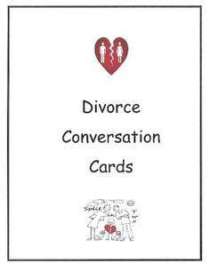 Each card has questions to ask your group of students. The cards revolve around divorce and how to cope.