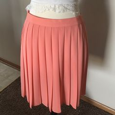 "CALVIN  KLEIN  Sport. Orange pleated skirt size 6 NWOT ,Length 18"" Light weight, no lining , just right for hot days with your crop top . Calvin Klein Skirts"