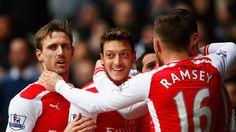 Mesut Ozil was on target at White Hart Lane