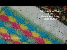 Stitch of the Week # 79 Quick and Easy Shell Stitch - Crochet Tutorial - YouTube