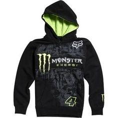 Fox Racing Monster RC Replica Tinsel Town Zip-Up Hoodie - Large/Black $39.97