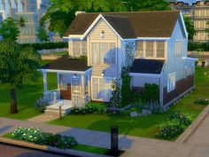The perfect place for artists Sims develop their talent. House with 2 bedrooms, 3 bathrooms and a home studio for artist. Decoration in minimalist style. Found in TSR Category 'Sims 4 Residential...