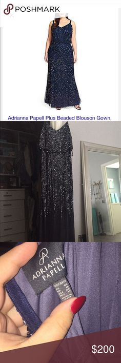 Adrianna Papel dress worn once Beautiful gown! Adrianna Papell Dresses Prom