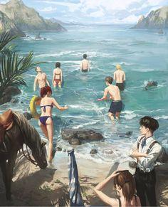 Armin, Mikasa, Attack On Titan Funny, Attack On Titan Fanart, M Anime, Fanarts Anime, Rivamika, Aot Characters, Eremika