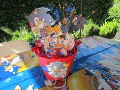 Sonic Centerpieces Sonic Party, Children, Kids, Centerpieces, Birthday Ideas, Party, Young Children, Young Children, Boys