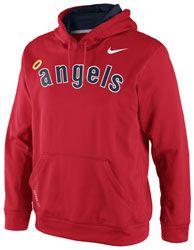 ba53be01ff1 Los Angeles Angels of Anaheim Red Nike CP Therma-Fit Fleece KO Hooded  Sweatshirt  74.99
