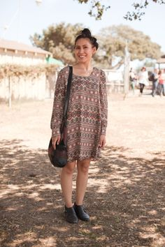 First City Festival Fashion | A simple patterned dress to wear in multiple situations