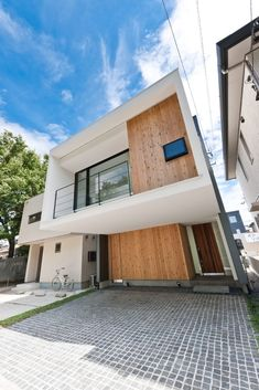 Facade Design, House Design, Japanese Modern, Box Houses, Window Coverings, My Dream Home, Building A House, Sweet Home, Exterior
