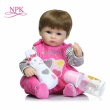 Full Range Of Specifications And Sizes And Great Variety Of Designs And Colors Npk 43cm New Handmade Silicone Vinyl Adorable Lifelike Toddler Baby Bonecas Girl Kid Bebe Doll Reborn Menina De Silicone Toys Famous For High Quality Raw Materials