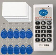 Professional ID/IC Card Copier/Writer/Readers/Duplicator 10 ID Tags 10 Cards Built in LED Lights Buzzer Individual Indicator Cube Store, Mother Card, Writing Numbers, Green Led, Buzzer, Access Control, E 10, Id Tag, Card Reading