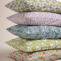 Made by local artisans in Jaipur, India, our patterned pillowcases are printed in a variety of motifs to enliven your bedding. Mix and match to create layers of pattern in a cool color palette.