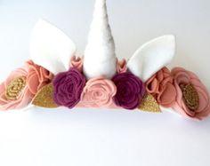 Unicorn Fall Inspired Headband Unicorn Horn di LittlePlumBowTique