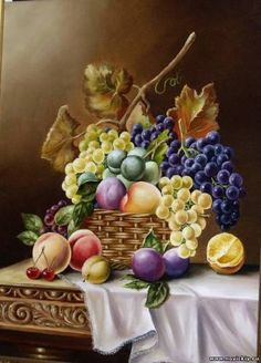 Fruit of Melitopol - Still life - Gallery - Images for the interior Pintura Colonial, Printed Glass Splashbacks, Still Life Fruit, Fruit Painting, Fruit Art, Nature Paintings, Renaissance Art, Paint Party, Vintage Flowers
