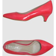 bright red pumps