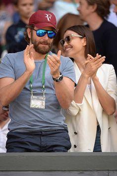 Irina Shayk y Bradley Cooper, amor en Wimbledon