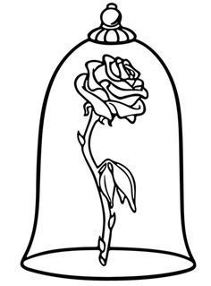 Image result for beauty and the beast rose tattoo