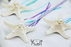 21 MERMAID BIRTHDAY PARTY IDEAS FOR KIDS - Mermaid Starfish Ribbon Wands
