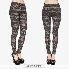 3D Print Women Leggings Aztec Glitter Jeggings Elastic Sexy Leggins Pa – Juliana's Leggings Boutique and etc.