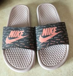 5a1f540b8 Nike Women s Benassi JDI Slide Sandals Women s Size 6 618919-605 Peach Gray   fashion  clothing  shoes  accessories  womensshoes  sandals (ebay link)