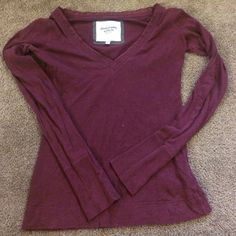Long sleeve shirt. Casual v neck long sleeve shirt from Abercrombie & Fitch. Great condition! Abercrombie & Fitch Tops Tees - Long Sleeve