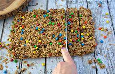 mini m&m granola bars