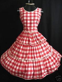 vintage square dancing clothing - Google Search