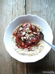 Delicious blog: Kaše...nejen ovesná Acai Bowl, Oatmeal, Pudding, Beef, Breakfast, Desserts, Food, Meat, Morning Coffee