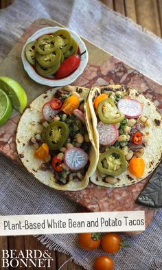 Plant-Based White Bean and Potato Tacos  vegan, plantbased, Earth Balance, Made Just Right