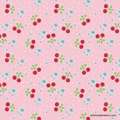 Bake Sale Cherry on Pink by Lori Holt for Riley Blake Designs C3433-PINK