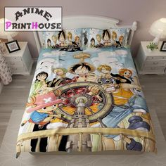 One piece bed sheets. One Piece New World, One Piece Crew, One Piece Merchandise, What Are Tarot Cards, One Piece Cosplay, Toddler Girl Bedding Sets, Animes To Watch, Anime Gifts, Duvet Cover Design