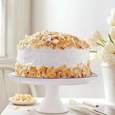 Our coconut cream cake is what dreams are made of.  #SL