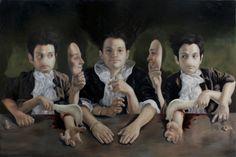"Sin título ""El ojo turco. 2011. 100cm x 150cm. oleo/tela."" Artista: José Luis López Galván"