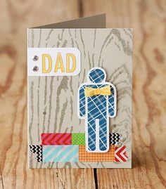 Make a Father's Day or Mother's Day card unique with a little #washi tape.