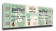 1959 World Series Game 4 Canvas Mega Ticket