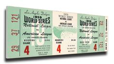 1959 World Series Game 4 Canvas Mega Ticket