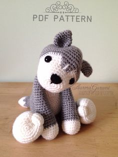 crochet pdf pattern nanook husky by AuroraGurumi on Etsy, $4.00