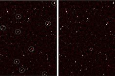 This is an image of the deep radio map covering the ELAIS-N1 region, with aligned galaxy jets. The image on the left has white circles around the aligned galaxies; the image on the right is without the circles. This is the first time a group of supermassive black holes in galactic cores have been seen to share this bizarre relationship and, at first glance, the occurrence should be impossible.