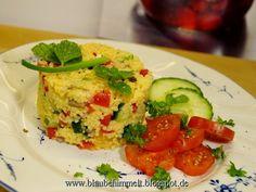 Hirsesalat mit Orange; vegan