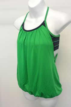 Lululemon No Limit Green and Navy Tank Size 4 #Lululemon #ShirtsTops