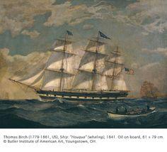 """Thomas Birch - Ship: """"Houqua"""" (whaling)"""