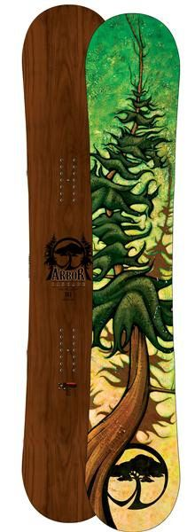 I am a really big fan of this snowboard by Chili Thom because of the summer evergreen tree featured on the bottom I also find myself interested because of how warped and individualistic this tree is. And the wood grain top tops it all off.