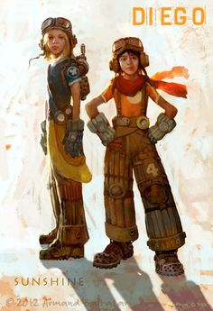 Sunshine & Diego by Armand Baltazar from THE COLLIDESCAPE CHRONICLES   BOOK ONE: DIEGO AND THE STEAM-PIRATES