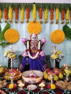 Gauri Decoration, Kalash Decoration, Mandir Decoration, Ganpati Decoration At Home, Diwali Decorations At Home, Ganapati Decoration, Backdrop Decorations, Festival Decorations, Flower Decorations
