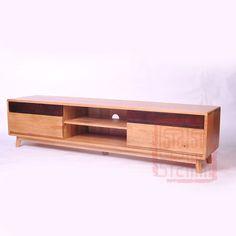 Japanese original Nordic small apartment wood white oak TV cabinet ...