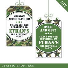 Camo Party Favor Tags (Digital File)