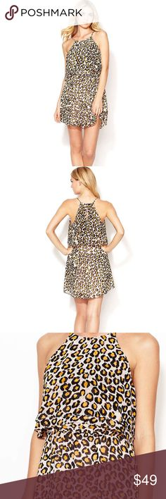 Leopard Print Dress Chic Leopard Print Dress. Light layers in the front of this bold Print Dress. Perfect for any beautiful Summer Day. Small snag near bottom of the dress (shown in pic) not noticeable when on.  Add THIS Chic Beauty to your Closet ☀️☀️☀️ Dolce Vita Dresses