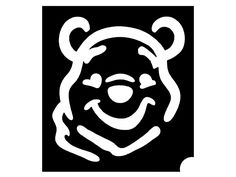 Bear Stencil, Pumpkin Stencil, Pumpkin Carving, Winnie The Pooh Pumpkin, Winnie The Pooh Friends, Glitter Tattoo Stencils, Glitter Tattoos, Brush Tattoo, Face Stencils