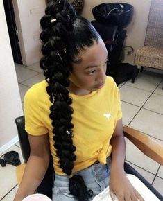 Ponytail Hairstyles For Black Women 20 Hair Ponytail Styles, Weave Ponytail Hairstyles, Braided Hairstyles For Black Women, Sleek Ponytail, African Braids Hairstyles, Baddie Hairstyles, Girl Hairstyles, Side Ponytails, Birthday Hairstyles